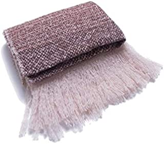 WUNONG-AU Scarf Fashion Keep Warm Shawl Europe and America Autumn Winter Striped Fringed Scarf (Color : Pink, Size : 200cm)