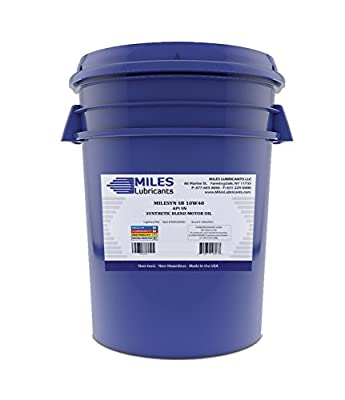 Milesyn SB 10W40 Synthetic Blend Passenger Car Motor Oil 5 Gallon Pail