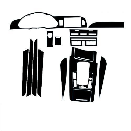 Ztuaalui Calcomanías Adhesivas de moldura de Cambio de Color de la Consola Central del Interior del Coche de Fibra de Carbono 3D, para Audi A6 2005-2011