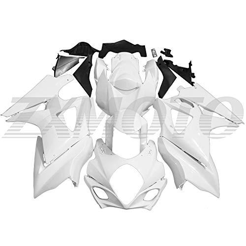 ZXMOTO Unpainted Motorcycle Fairings Kit for 2007 2008 SUZUKI GSXR 1000 K7 Injection Mold ABS Plastics Bodywork Fairings
