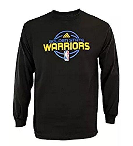 Adidas Golden State Warriors NBA - Maglietta a maniche lunghe, da uomo, colore: Nero