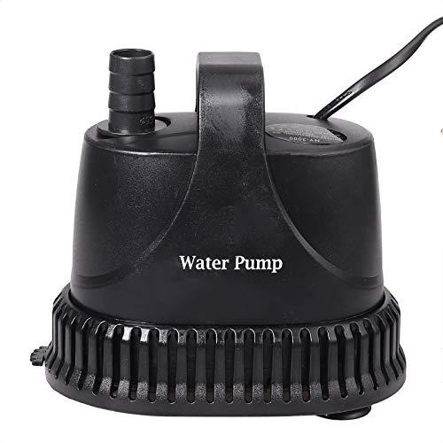 Wasserpumpe 3000L/H Teichpumpe ECO Amphibische Tauchpumpe 40W Filterpumpe mit 3 Sprinkler Teichfilter für Vogelbad, Wasserkreislauf, Aquarium, Gartenbewässerung, Steingarten, Brunnen