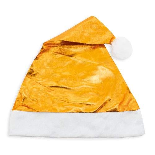 DISOK - Lote de 12 Gorros de Navidad Metalizados Color Oro. Gorro...