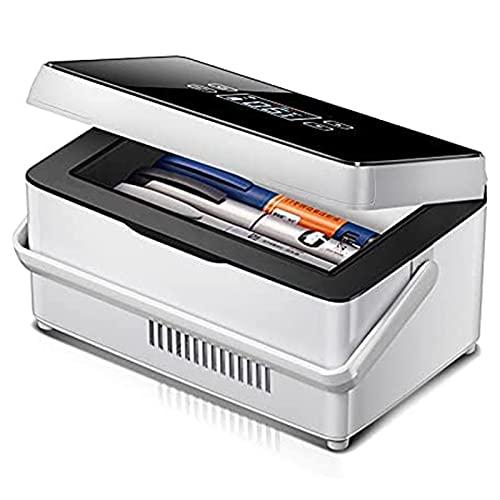 Joyfitness Refrigerador Portátil para Medicamentos, Caja Refrigerada con Enfriador De Insulina, Refrigerador Portátil Recargable para Automóvil, Estuche Médico para Viajes Al Aire Libre