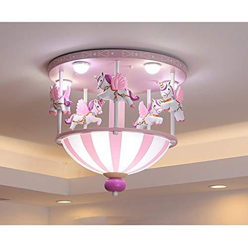 Plafón de Techo Moderna luminaria de Montaje del Accesorio Ligero for el Dormitorio, la habitación de los niños, los niños Dormitorio (Rosa) de Techo Creativo Luz Luz de Techo