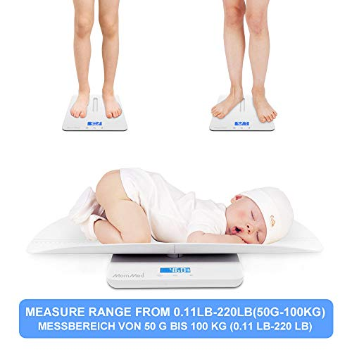 Digital Scale Smart Electronic Weigh Comfort Baby Toddler Digital Scale LCD Display Baby Infant Weighing Scale 3 Weighing Modes Baby Scale Baby Weight Tray Pet 20kg//44pounds