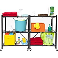 2-Pack Origami 3 Tier Collapsible Shelves