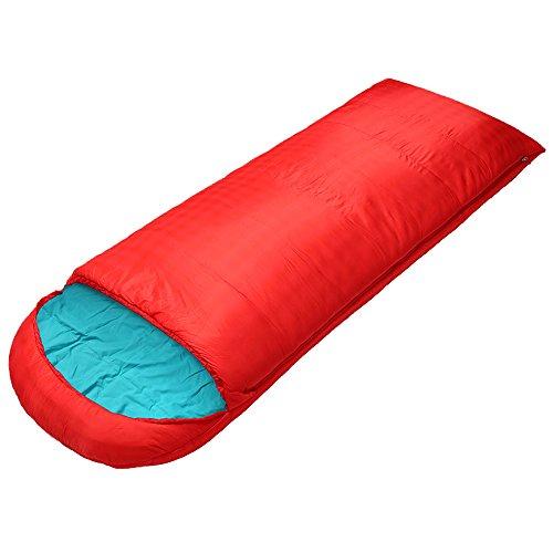 QFFL shuidai Enveloppe Sac de Couchage/Splicable / imperméable/Camping Randonnée Outdoor Rectangulaire Sac de Couchage en Coton Sac de Compression (180 + 40) * 85cm (Couleur : Red)