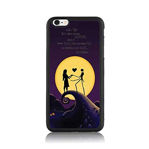 Nightmare Before Christmas Lover Heart Print Case for Apple iPhone 6s Plus, Shock-Absorption Soft Bumper + Hard Back Cover Anti-Scratch Drop Protection for iPhone 6s Plus
