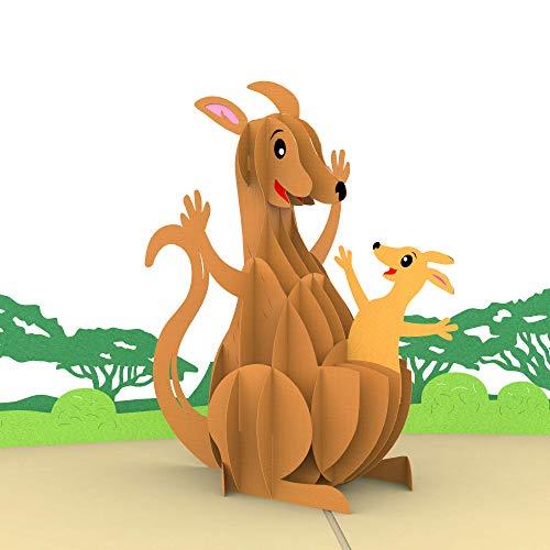 Geburtstagskarte, Känguru, 3D-Pop-up-Karte, Originelle Glückwunschkarte Alles Gute zum Geburtstag, Grußkarte, Geschenkkarte, Geburtstagskarten, Geburtstagsbillet