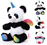 Designed Cute Pandacorn Stuffed Animal for Kids Soft Panda Plush Toys with Wings and Corn Like Unicorn Perfect Plushies Toys Stuffed Animal Gift for Birthday, Valentine, Christmas