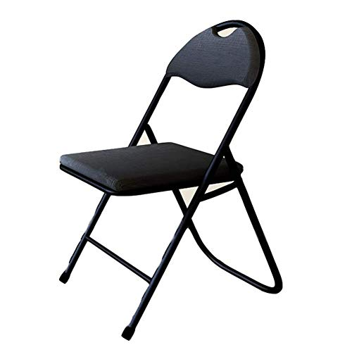 HFJKD Padded Fabric Folding Chairs Strong Steel Frame Fold Up Chair, Comfy Cushioned Seat, Foldable Easy Store Away for The Outdoors and Indoors