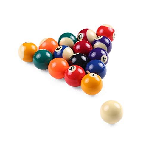 GUOQING Kinder Billard Tisch Ball Volle Satz-25mm/38mm Harz Kleines Billard Poolbälle Tisch Ball Set Resin Billiard Training Ball (Color : 38CM)