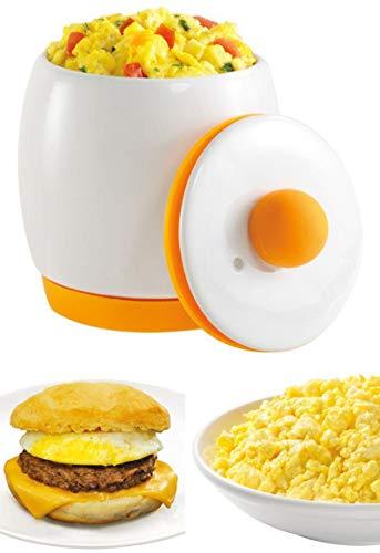 As Seen on TV Egg Tastic Microwave Egg Cooker and Poacher White Orange Eggtastic