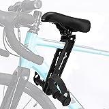 LQKYWNA Asiento De Bicicleta Montado En La Parte Delantera, Asiento De Niños Ligero De Aleación De Aluminio Desmontable Ajustable con Pedales Y Agarre para Bicicleta De Montaña/Carretera