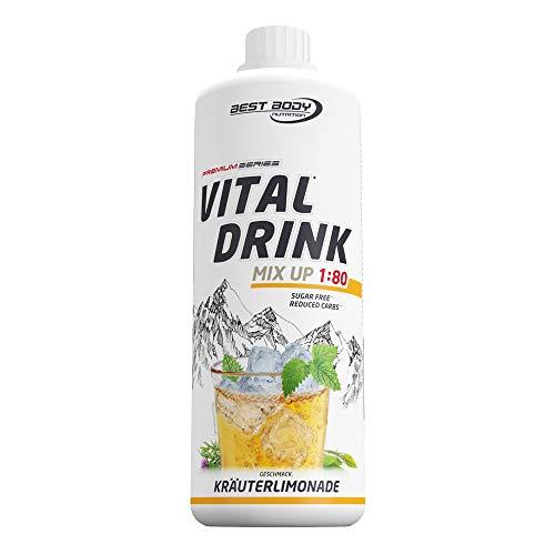 Best Body Nutrition Vital Drink Kräuterlimonade, Getränkekonzentrat, 1000 ml Flasche