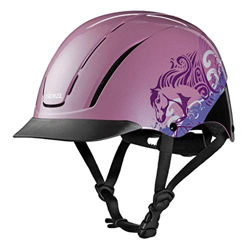 TROXEL Childrens Spirit Safety Horse Riding Helmet ? Low Profile Western Adjustable ? All Styles (Pink Dreamscape, XS)