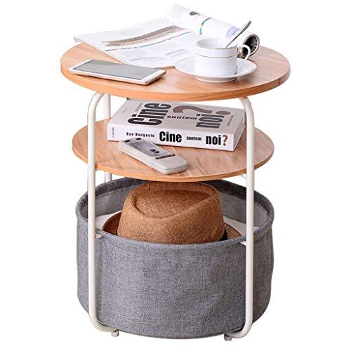 Table Basse Canapé Amovible Table D'appoint Table Basse Stable Antidérapante Salon Canapé Table D'appoint Simple Table Basse (Color : Gray, Size : 42 * 42 * 51cm)