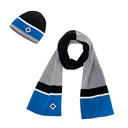 HSV muts sneeuwpop + sticker Hamburg Forever, hoed, cap, wintermuts, bommelmuts, hoofdwarmers