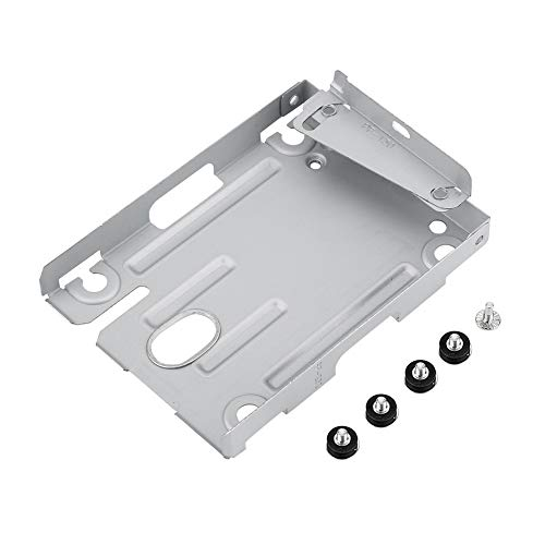 DELMO - Soporte de montaje para disco duro de 2,5 discos duros compatibles con PS3 CECH-400X con tornillos