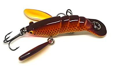 Crazy Crayfish Swimbait fishing lure slow sinking Rusty Red. by FISHIN ADDICT
