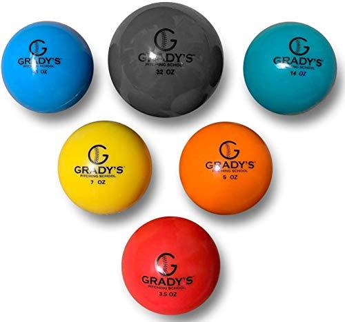 Grady's ピッチング トレーニングボール プライオボール 6個セット 球速アップに効果