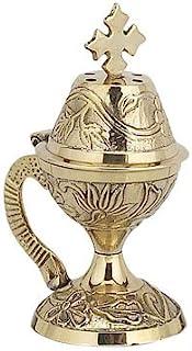 Christian Byzantine Orthodox Greek Censer Incense Burner Liturgy (8599b)