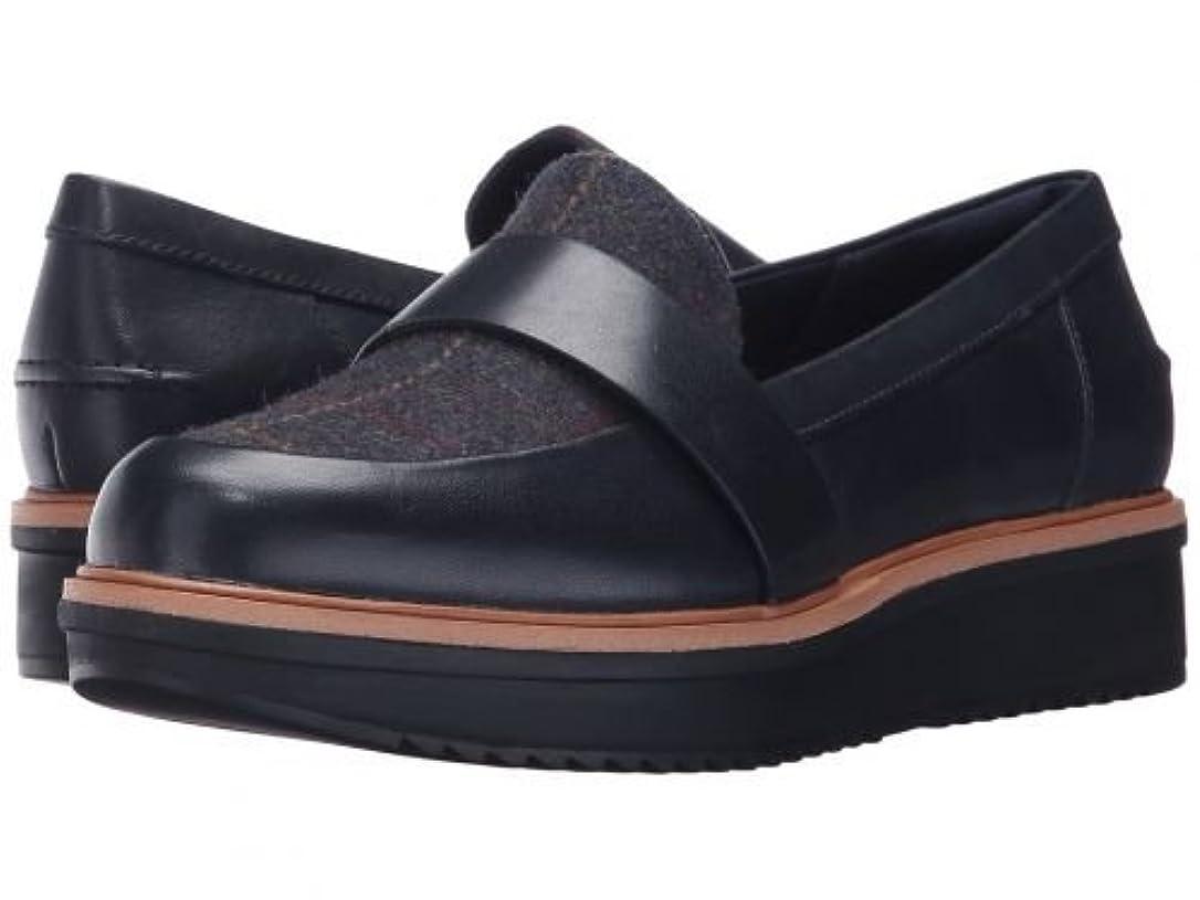 顔料マークケージClarks(クラークス) レディース 女性用 シューズ 靴 ローファー ボートシューズ Teadale Elsa - Navy Combo [並行輸入品]