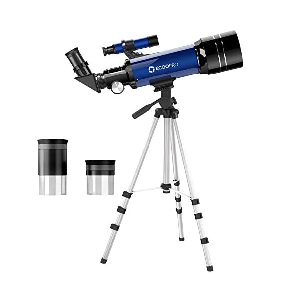 Telescopes for Kids Beginners,70mm Astronomy Refractor Telescope with Adjustable Tripod & Carry Bag Portable Travel Scope for Adult Children