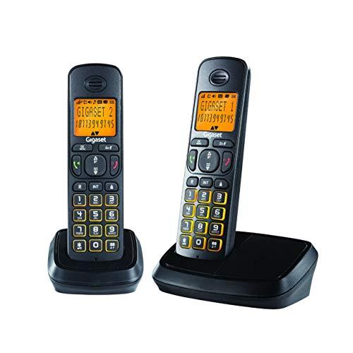 Gigaset A500 Duo Black Cordless Landline Phone with Caller Id & Speakerphone