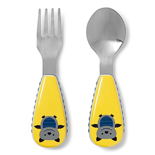 Skip Hop Zoo Bat - Tenedor y cuchara