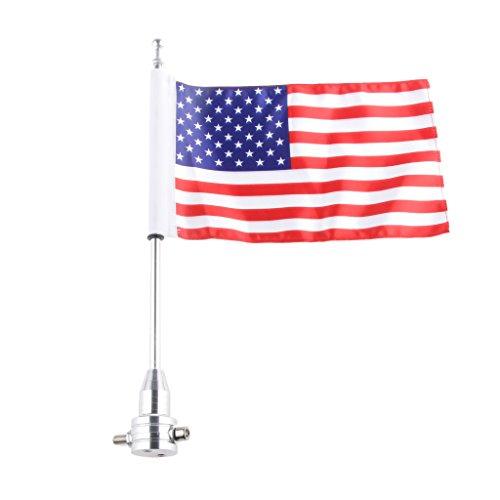 Motorrad-Flagge Kit Amerikanisch Rackmount Aluminiumpfosten USA-Flagge Für Harley XL883 1200 X48