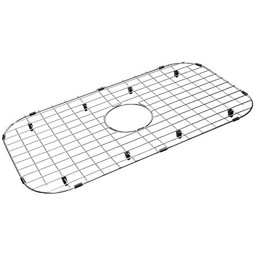 """Serene Valley Sink Protector Grid 26-1/16"""" x 14-1/16"""", Centered Drain with Corner Radius 3-1/2"""", 304 Stainless Steel Material NLW2614C"""