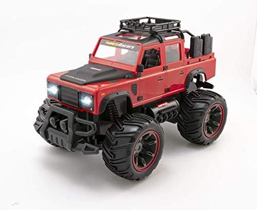 Ninco Overlander. Funciona con Pilas. Coche Monster Truck Teledirigido. Escala 1/14. con Luces. Emisora 2,4 GHz. Color Rojo. +6 años. NH93173