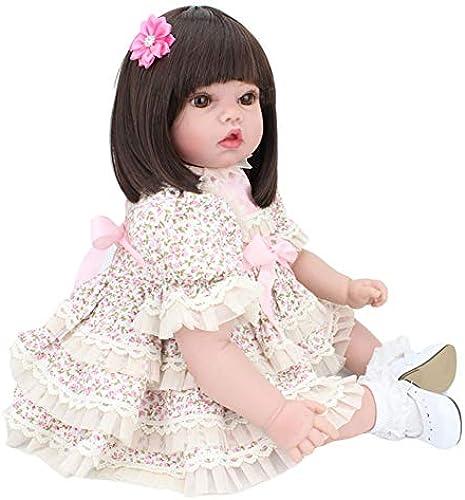Mr.LQ Nette Wiedergeburt-Baby-Puppe 50 cm Realistische Neugeborene Baby-Puppen-Spielzeug-KinderWeißnachtsgeschenk