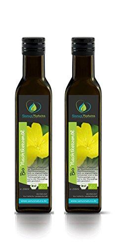 Sanus Natura Bio Nachtkerzenöl 500ml Glasflasche