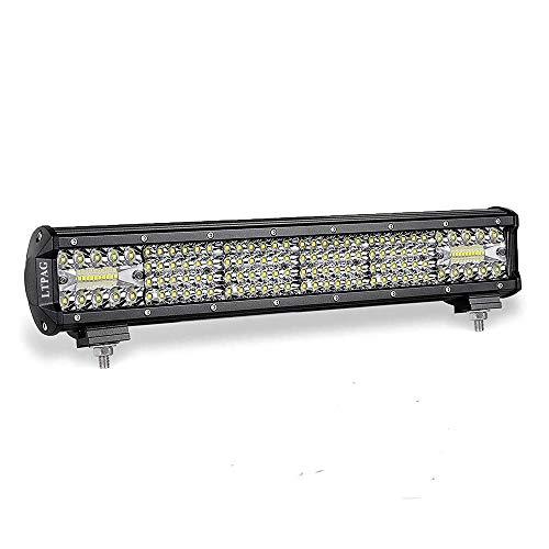 LED Arbeitsscheinwerfer, LTPAG 20 Zoll 450W Zusatzscheinwerfer 38000LM 6000K IP68 Wasserdicht Offroad Scheinwerfer Arbeitslicht mit 150 LEDs Zusatzscheinwerfer Bar