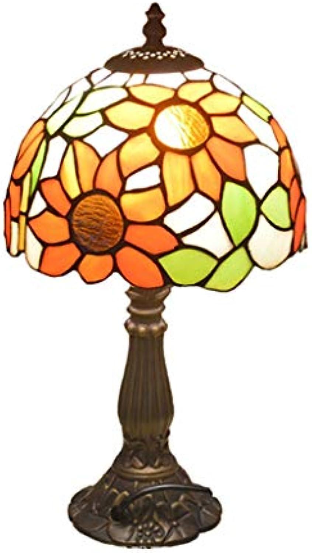 GJH-TISCHLAMPE Mittelmeer Buntglaslampen, dekorative Tischleuchte für Schlafzimmer Bar Restaurant Cafe (Farbe   E)
