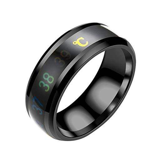Fliyeong Smart Temperature Stainless Steel Ring Couple Lover Color Change...