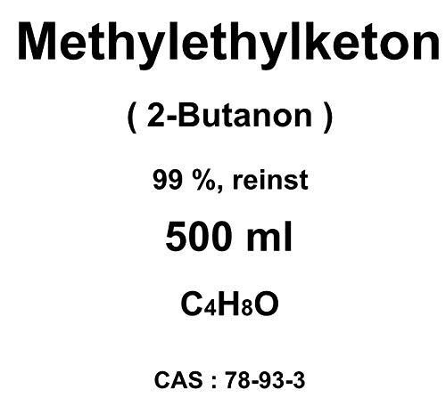 500 ml Methylethylketon, MEK, (2-Butanon),99%, als Lösungsmittel für Vinylharze