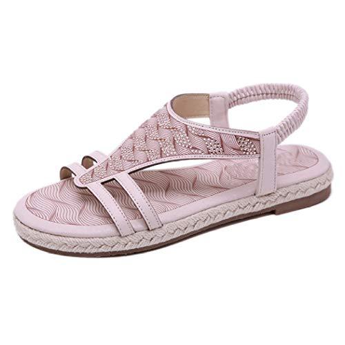 Infradito Casual da Donna Summer Bohemia Open Toe Scarpe da Spiaggia Casual Gladiator Slip On Comfortable Flats Simple Outdoor Lady Sandals