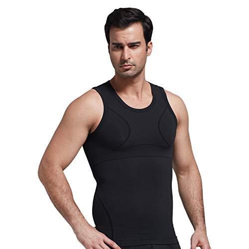 KPII Faja Chaleco Hombre, Adelgazante Reductora Absorción de Sudor Suave Shapewear, Chaleco Adelgazar,Negro,Medium