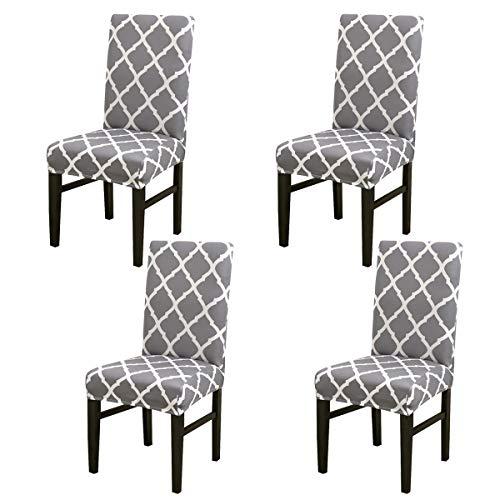 Juego de funda elástica universal para silla de comedor con respaldo alto, funda protectora y decorativa para comedor, boda, banquete o fiesta