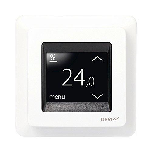 Devireg Touch Polarweiß - Thermostat für Fußbodenheizung mit Touchscreen