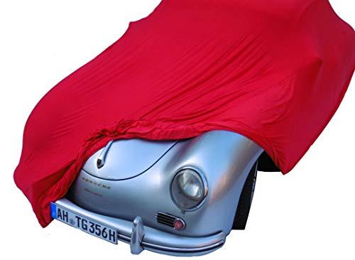EXCOLO Auto Schutzhülle Schutzhaube Plane Indoor Hochwertig rot grau oder schwarz bis 5,80 m lang (Rot bis 5,80 Meter)