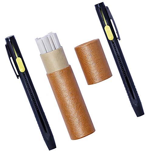 rongweiwang Lápices Tiza Cuero Establecer la Estructura del de Costura rotulador de Sastre DIY Ropa de Costura Pluma de Marca Estuche Surtido
