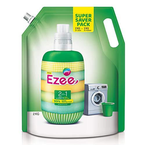 Godrej Ezee 2-in-1 Liquid Detergent + Fabric Sanitizer, 2kg Pouch