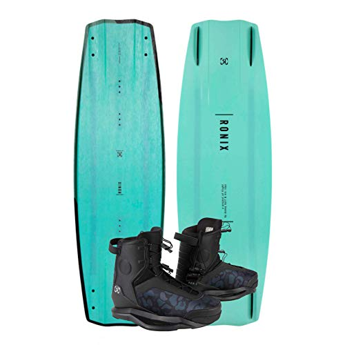 WAKESPORTS UNLIMITED Ronix 2021 One Blackout Wakeboard & Parks Bindings Package | One Blackout Boat Board | Parks Boots | 146cm, Size 10