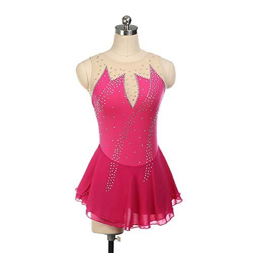 GXLO Gymnastique Manches Longues Danse Ballet de Ballet Gymnastique Justaucorps pour Filles 5-12 Ans Couleur Gradient Gradient Design Scintillant,M