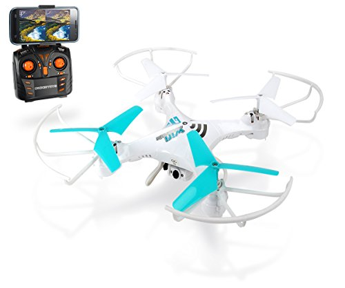 Dickie Toys 201119437 - RC DT-QL Livecam Quadrocopter, funkferngesteuerter Quadrokopter mit Live-Kameraübertragung, 30 cm